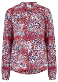 Mercy Delta Hinton Silk Blouse - Cheetah Wild