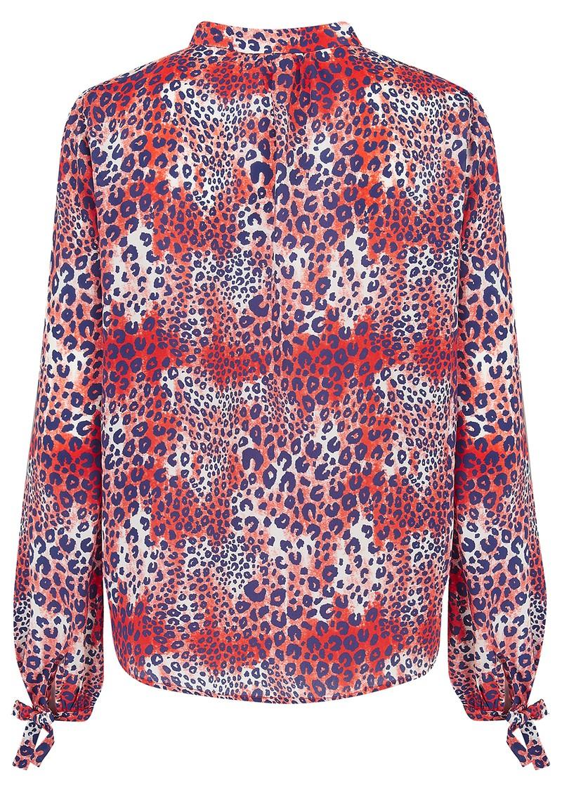 Mercy Delta Hinton Silk Blouse - Cheetah Wild main image