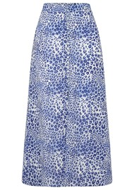 Mercy Delta Moulton Midi Skirt - Cheetah Sea