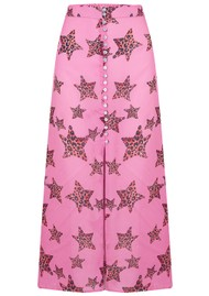 Mercy Delta Moulton Midi Skirt - Leopard Star Mermaid
