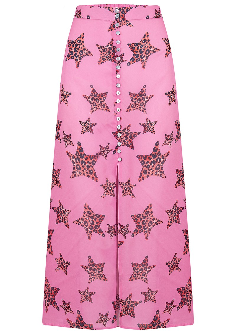 Mercy Delta Moulton Midi Skirt - Leopard Star Mermaid main image
