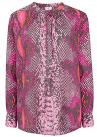 Mercy Delta Stowe Python Blouse - Mermaid