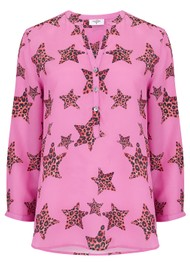 Mercy Delta Stanford Silk Blouse - Leopard Star Mermaid