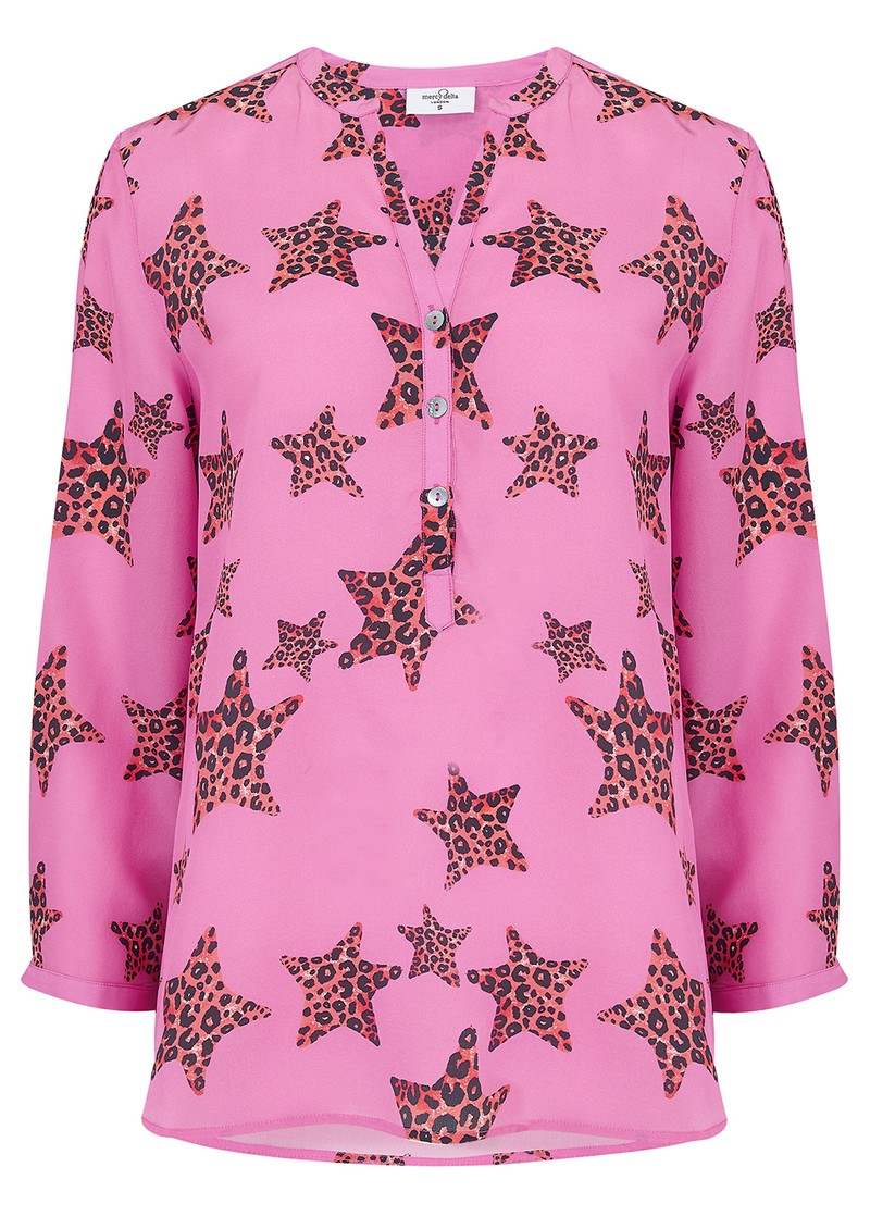 Stanford Silk Blouse - Leopard Star Mermaid main image
