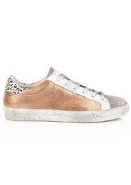 AIR & GRACE Cru Trainer - Rose Gold & Cheetah Print