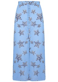 Mercy Delta Moulton Midi Skirt - Leopard Star Sea