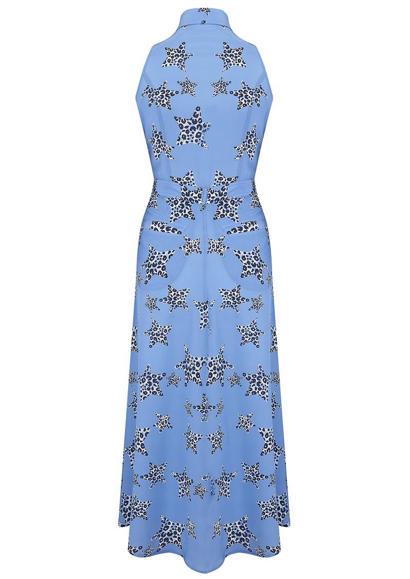 Mercy Delta Penrose Silk Dress - Leopard Star Sea main image