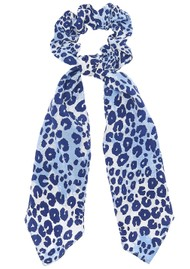 Mercy Delta Silk Printed Scrunchie - Cheetah Sea