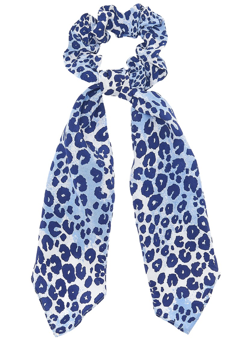 Mercy Delta Silk Printed Scrunchie - Cheetah Sea main image