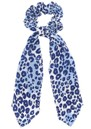 Mercy Delta Silk Printed Scrunchie - Cheetah Sea