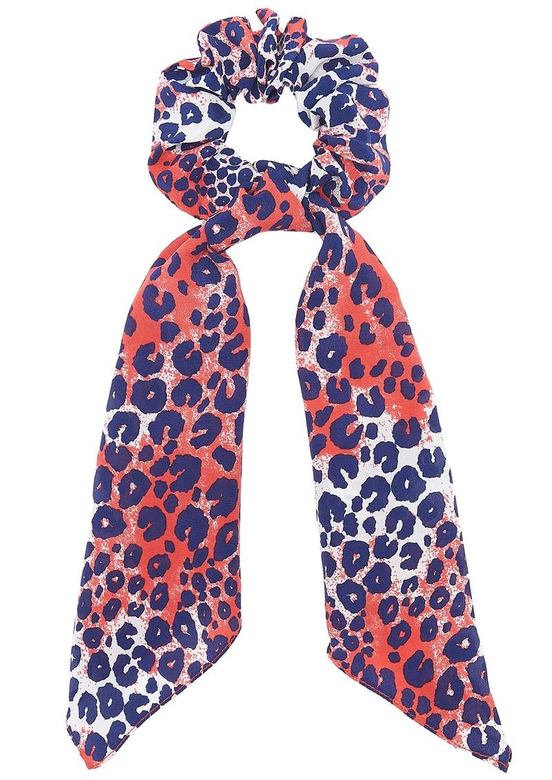 Mercy Delta Silk Printed Scrunchie - Cheetah Wild main image
