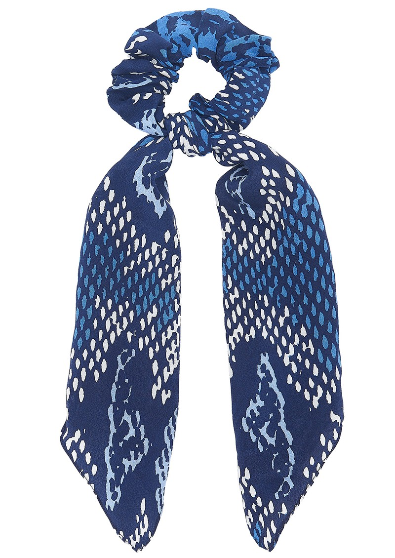 Mercy Delta Silk Printed Scrunchie - Python Sea main image
