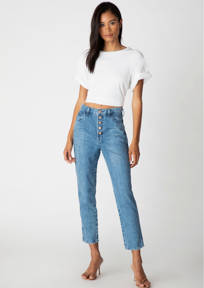 J Brand Heather High Rise Button Fly Slim Straight Jeans - Varsha Raze main image