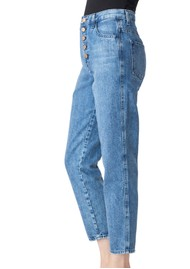 J Brand Heather High Rise Button Fly Slim Straight Jeans - Varsha Raze