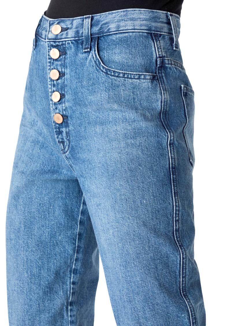 J Brand Heather High Rise Button Fly Slim Straight Jeans - Varsha Raze main image