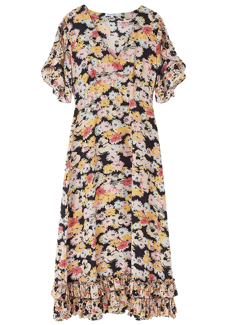 Lily and Lionel Fran Silk Dress - Confetti Black  main image