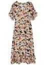 Lily and Lionel Fran Silk Dress - Confetti Black