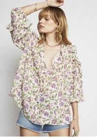 BERENICE Timotee Printed Blouse - Bayside
