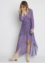 BERENICE River Silk Mix Printed Dress - Bal Harbour