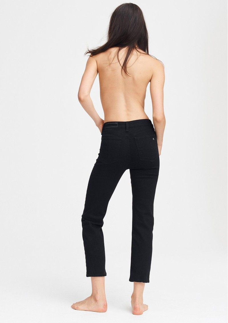 Nina High Rise Ankle Flare Jeans - No Fade Black main image