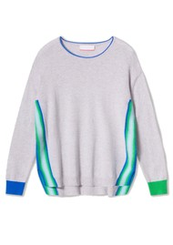 COCOA CASHMERE Anna Jumper - Cloud & Blue