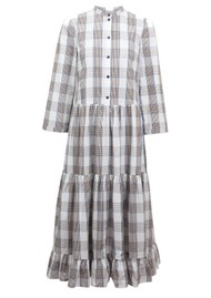 BAUM UND PFERDGARTEN Alexine Organic Cotton Dress - Cream, Navy & Brown