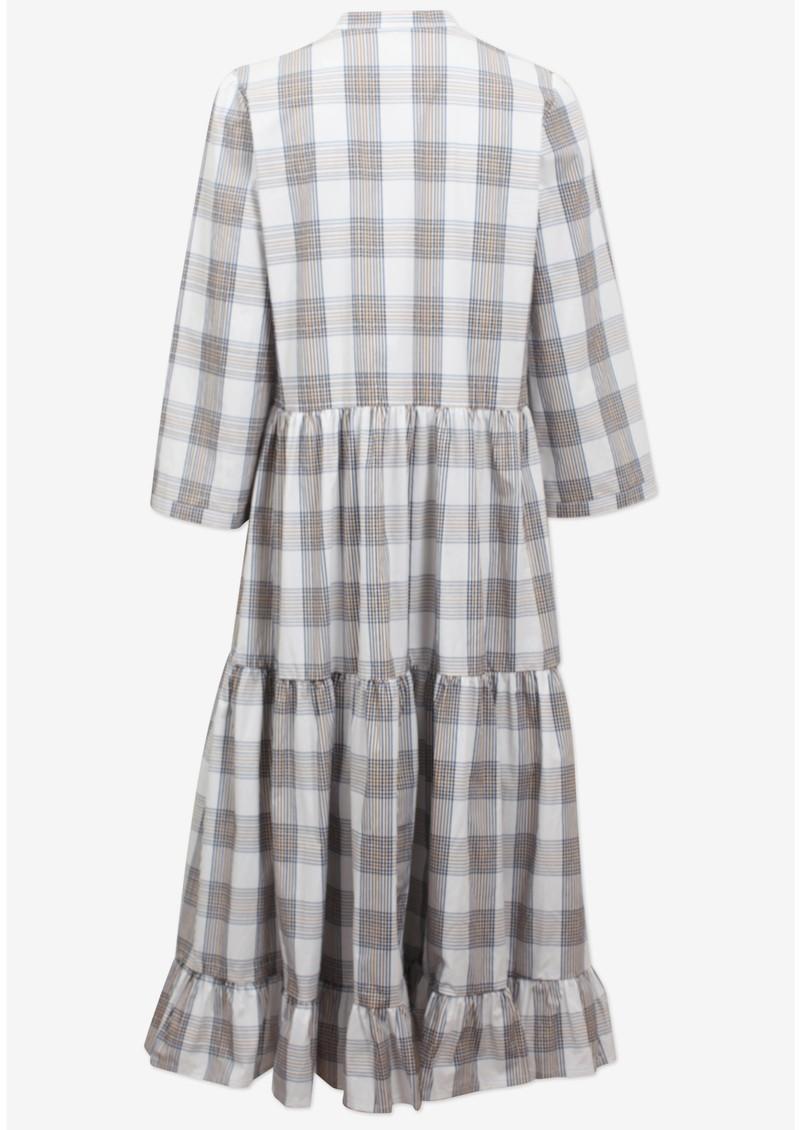 BAUM UND PFERDGARTEN Alexine Organic Cotton Dress - Cream, Navy & Brown main image