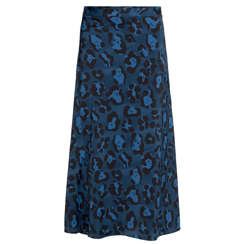 Claire Printed Skirt - Artist Leopard Blue