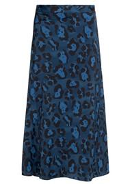 FABIENNE CHAPOT Claire Printed Skirt - Artist Leopard Blue