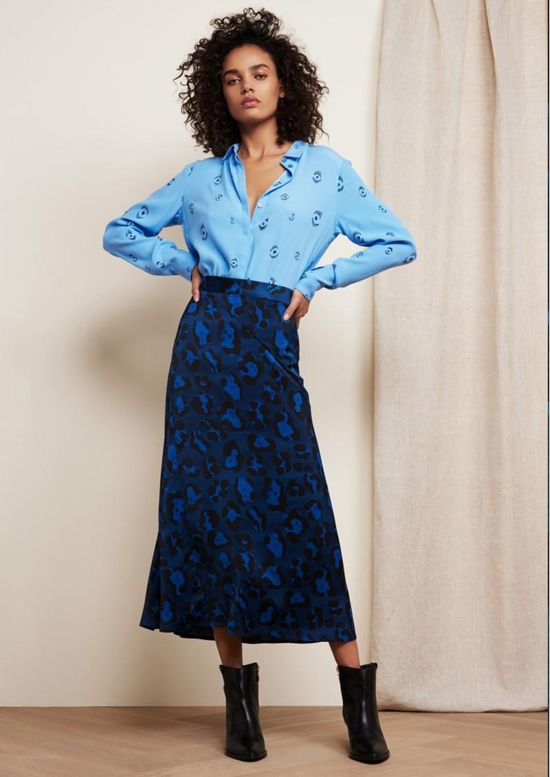 FABIENNE CHAPOT Claire Printed Skirt - Artist Leopard Blue main image