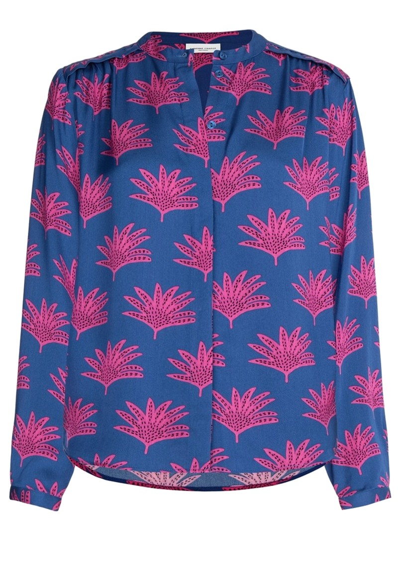Sunset Printed Blouse - Fan Blue main image