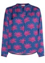 Sunset Printed Blouse - Fan Blue additional image