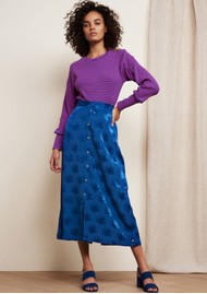 FABIENNE CHAPOT Jacky Skirt - Fan Blue