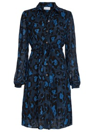 FABIENNE CHAPOT Freida Lou Short Shirt Dress - Artist Leopard Blue