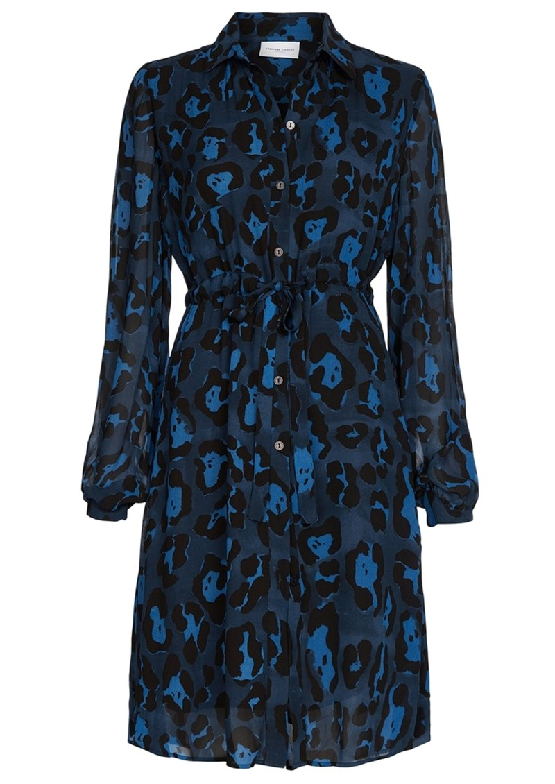 FABIENNE CHAPOT Freida Lou Short Shirt Dress - Artist Leopard Blue main image