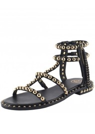Ash Power Studded Sandal - Black