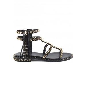 Power Studded Sandal - Black