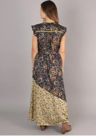 NOOKI Nova Printed Maxi Dress - Navy