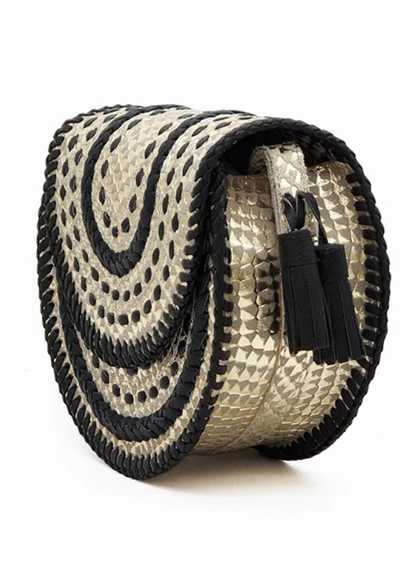 NOOKI D'Souza Cross Body Bag - Gold Snake main image
