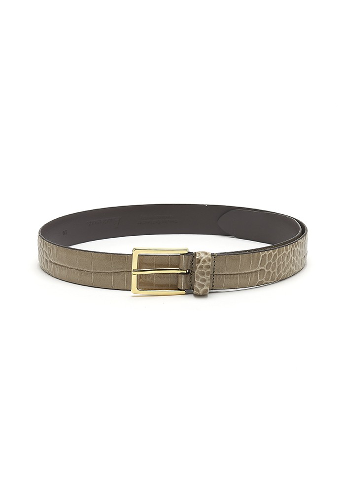 ANDERSONS Mock Croc Leather Belt - Moss Green main image