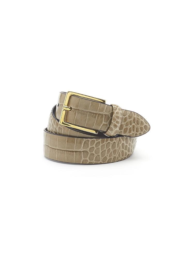 ANDERSONS Mock Croc Leather Belt - Moss Green main image