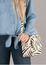 NOOKI Cosmo Square Cross Body Bag - Zebra
