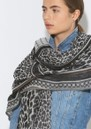 Koel Coja Printed Scarf - Black additional image