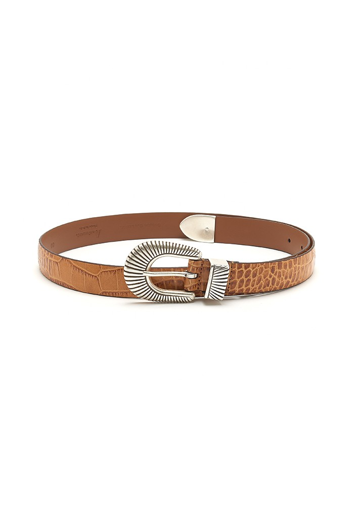 ANDERSONS Mock Croc Leather Belt - Light Tan main image