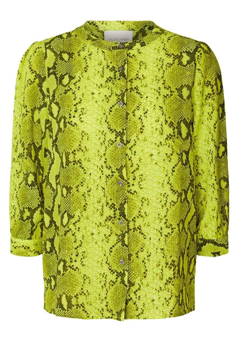 LOLLYS LAUNDRY Amalie Python Printed Shirt - Neon Yellow main image