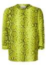 LOLLYS LAUNDRY Amalie Python Printed Shirt - Neon Yellow