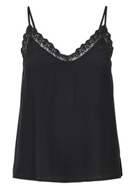 LOLLYS LAUNDRY Bea Cami Top - Washed Black
