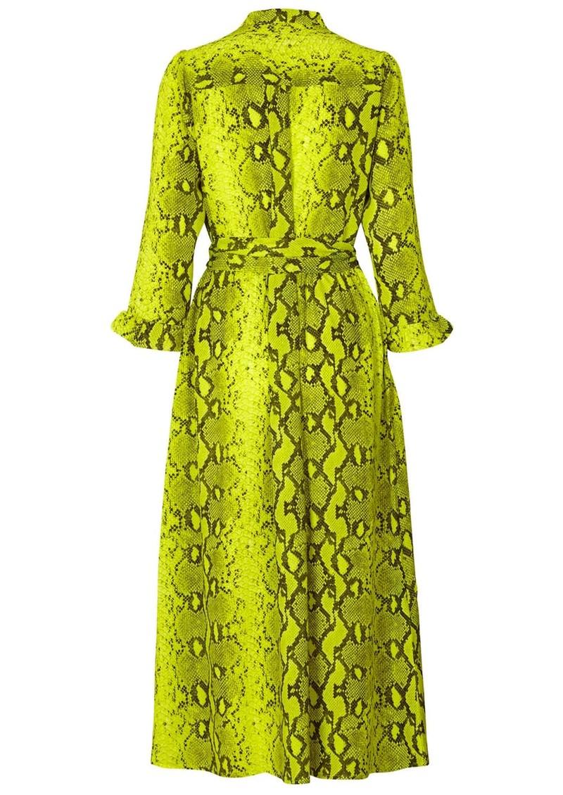 LOLLYS LAUNDRY Harper Python Printed Dress - Neon Yellow main image