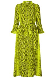 LOLLYS LAUNDRY Harper Python Printed Dress - Neon Yellow