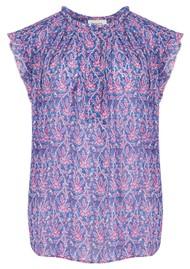 BERENICE Tess Silk Mix Printed Top - Bal Harbour